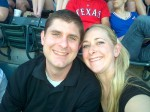 Fun at the Rangers game!